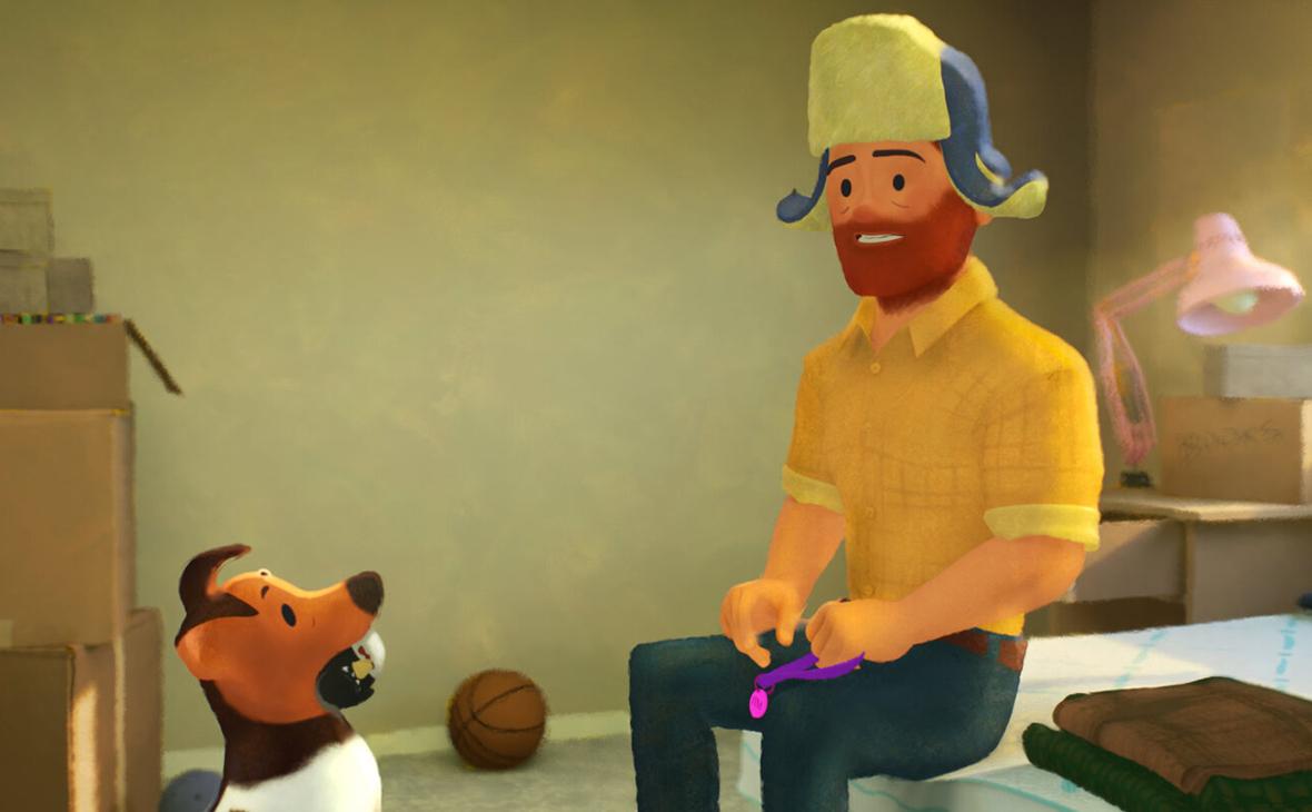 Кадр из короткометражного мультфильма Out («Выход»)