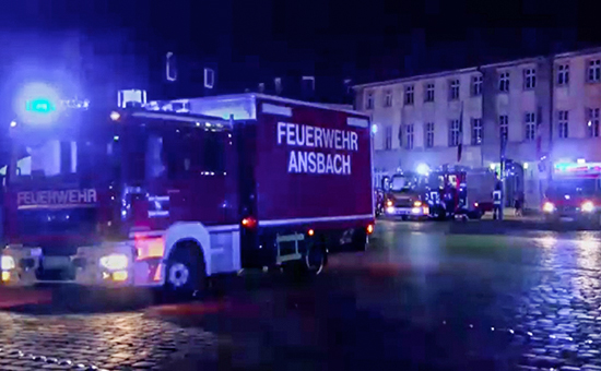 На месте взрыва в ресторане в баварском городе Ансбах