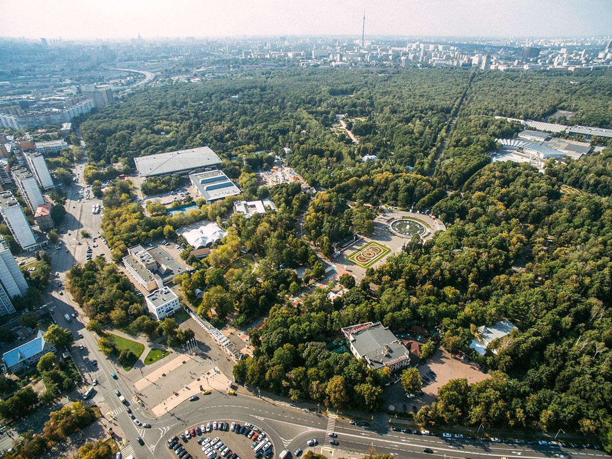 Вид на парк Сокольники