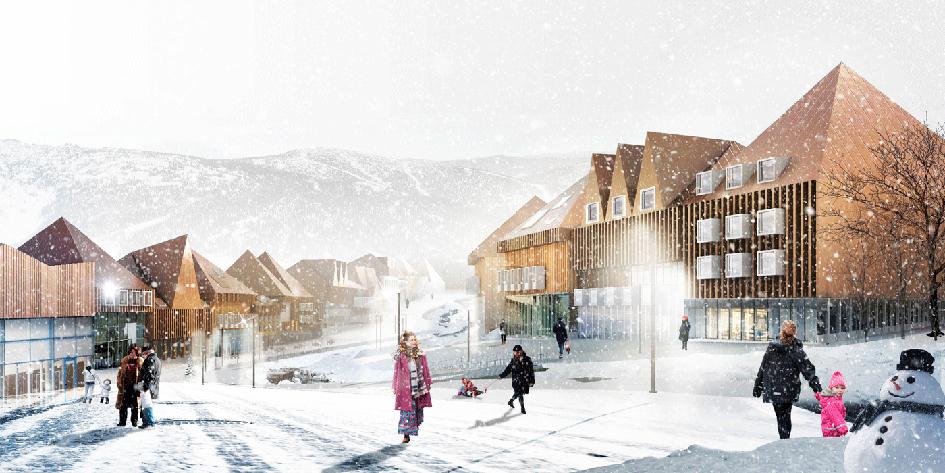 Из портфолио архитектурного бюро Megabudka: проект горнолыжного курорта в Шерегеше