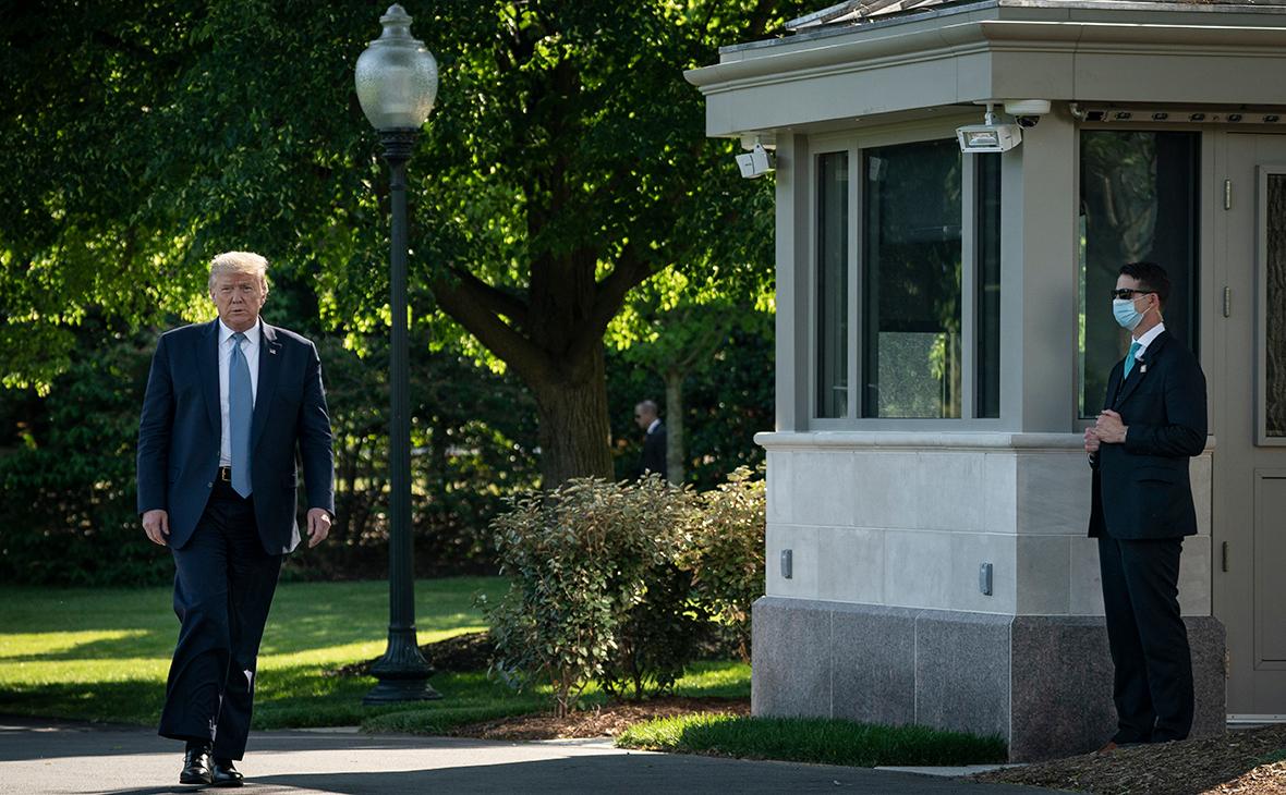 Дональд Трамп в своей загородной резиденции Кэмп-Дэвид
