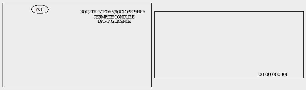 <p>Макет водительского удостоверения нового образца&nbsp;&mdash; лицевая и оборотная стороны.</p>