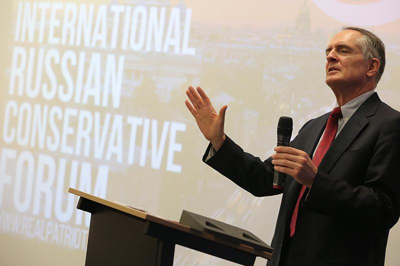 Американский писатель Джаред Тейлор на Международном русском консервативном форуме, 22 марта 2015 года