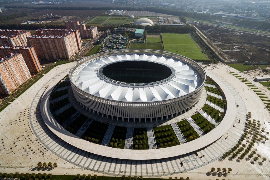 В конце 2014годапроект строительства стадиона ФК «Краснодар» получил статус одобренного администрацией Кубани инвестпроекта