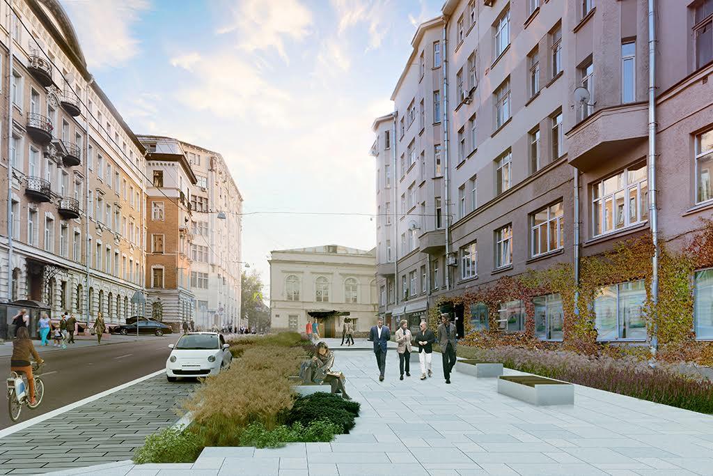 Визуализация проекта реконструкции Милютинского переулка
