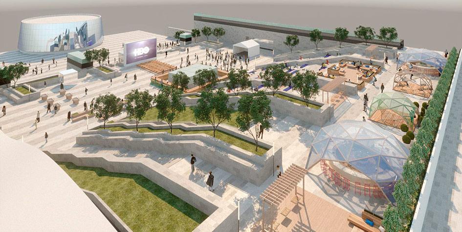 Визуализация проекта нового городского пространства в«Москва-Сити»