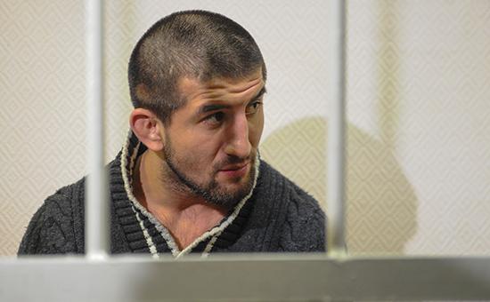 Расул Мирзаев вовремя рассмотрения дела вЗамоскворецком суде. 16 августа 2012 года
