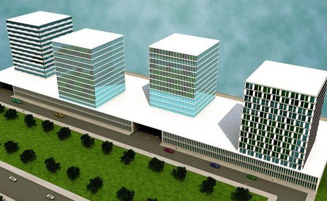 Визуализация делового района «Тверь-Сити»