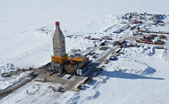Буровая установка на Южно-Тамбейском газовом месторождении в Ямало-Ненецком автономном округе, 2015 год