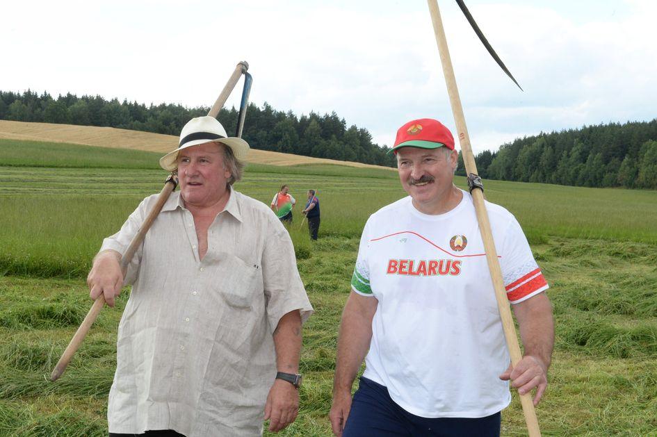Жерар Депардье в гостях у Лукашенко