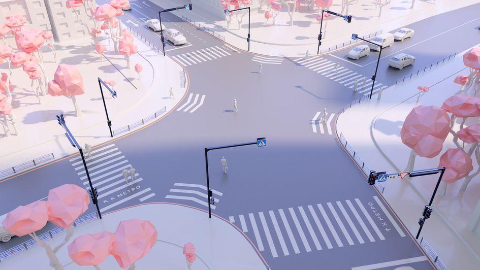 Оформление московских перекрестков от Студии Артемия Лебедева