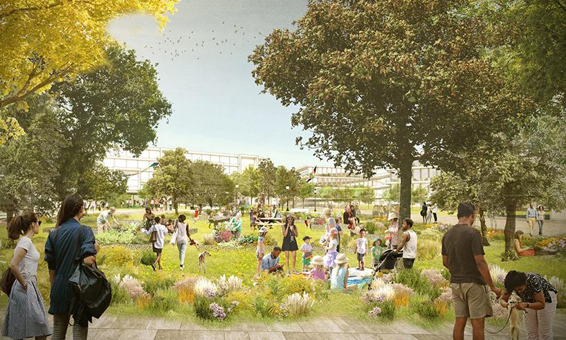 Проектное изображение кампуса Facebook
