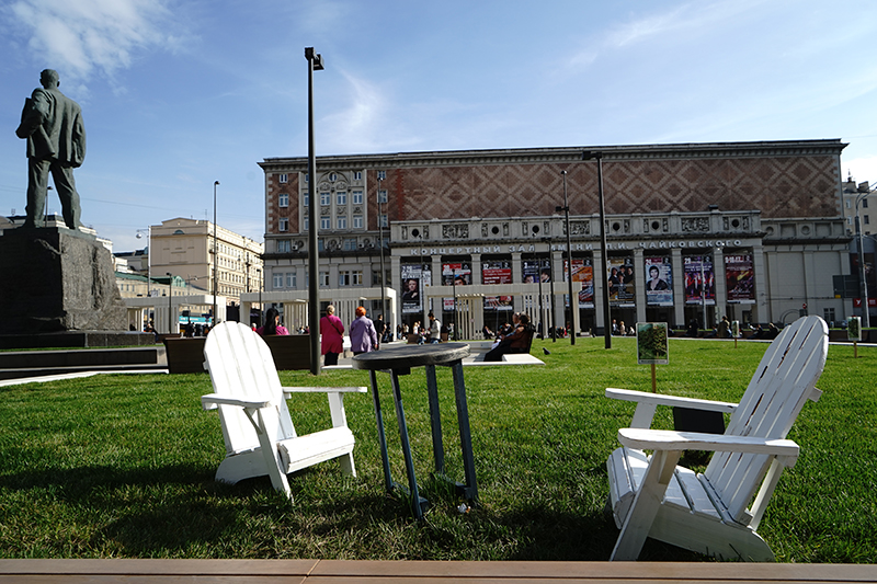 Триумфальная площадь стала единственным объектом программы «Моя улица», в проектировании которого приняли участие известные архитекторы из Buromoscow