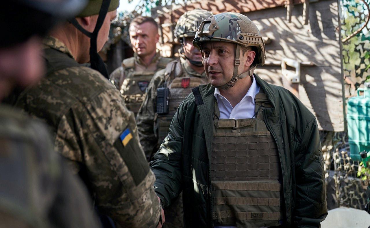 Президент Украины Владимир Зеленский в Донбассе