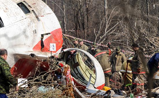 Обломки самолета Ту-154, 2010 год