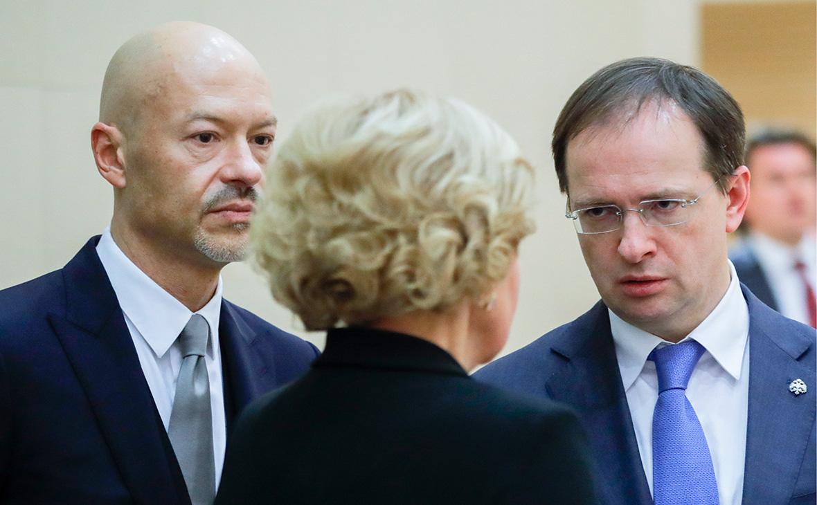 Федор Бондарчук, вице-премьер Ольга Голодец и Владимир Мединский