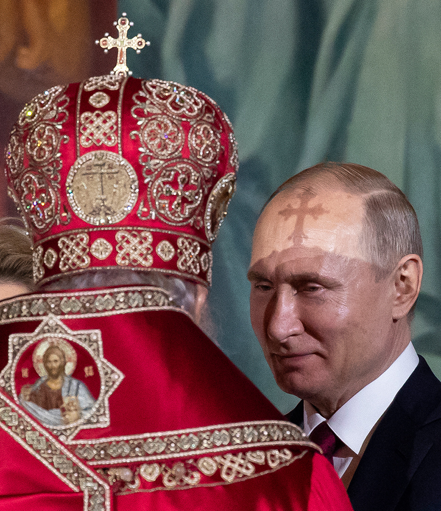 Патриарх Кирилл и Владимир Путин (слева направо)