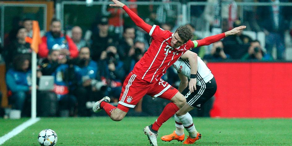 «Бавария» забила «Бешикташу» восемь голов в двух матчах в Лиге чемпионов