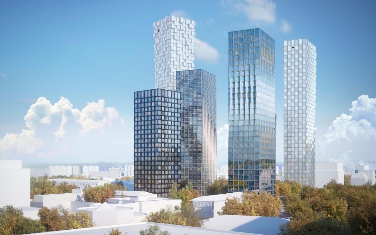 Два корпуса будут высотой в 32 этажа, а третий — 24 этажа