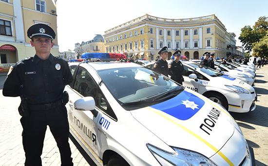Полицейские патрули в Одессе