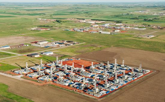 Буровые установки в Северной Дакоте, США