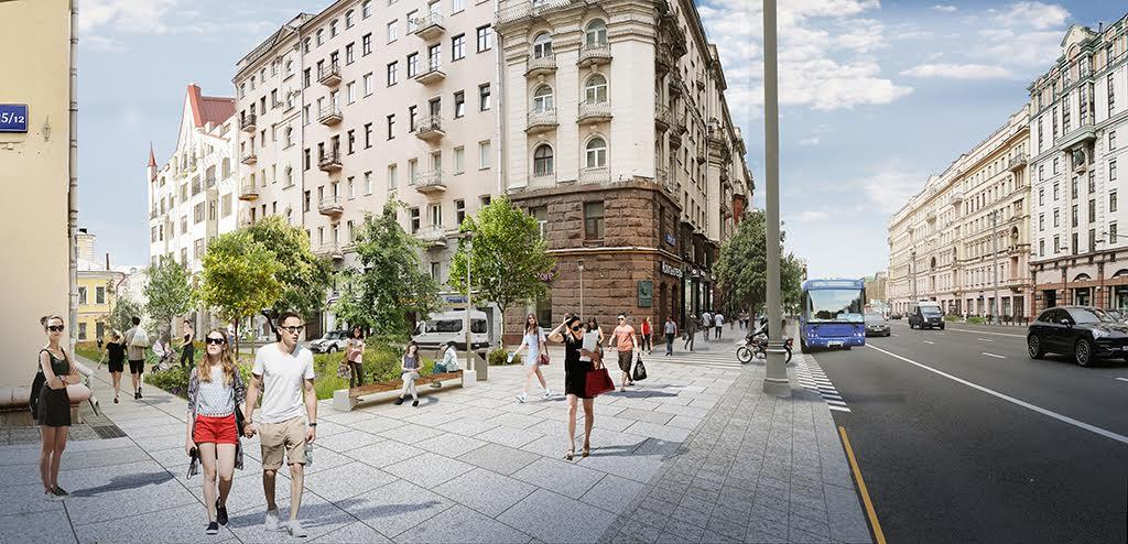 Визуализация проекта реконструкции Благовещенского переулка