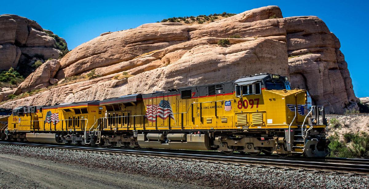 Поезд железнодорожной компании Union Pacific