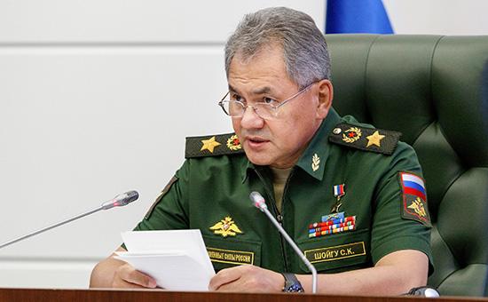 Министр обороны Сергей Шойгу