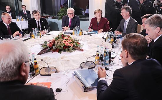 Переговоры внормандском форматевБерлине.19 октября 2016 года