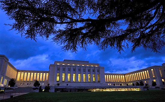 Здание европейской штаб-квартиры ООН в Женеве