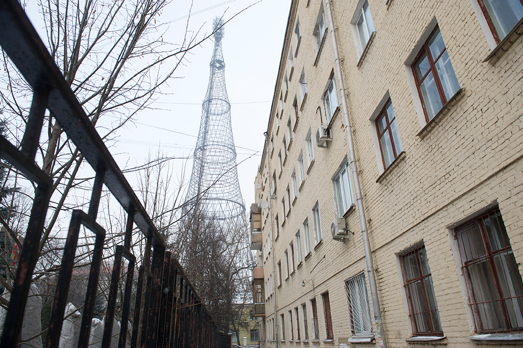 Шуховская башня на улице Шухова