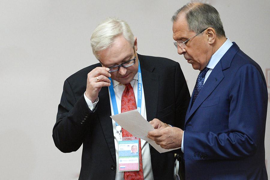 Сергей Лавров и Сергей Рябков