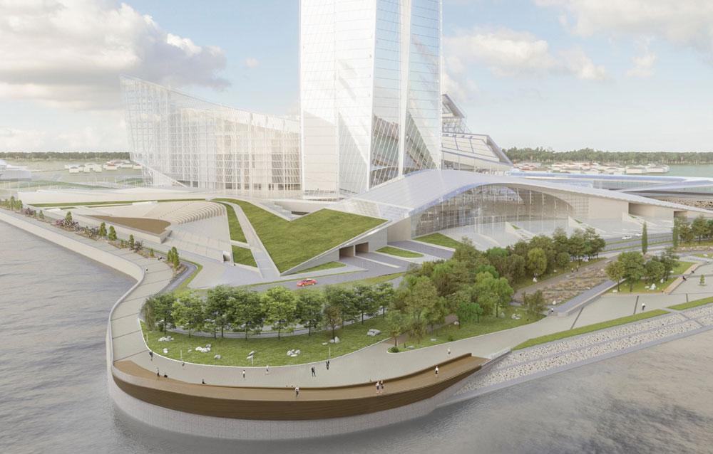 Проект создания общественного пространства на набережной у «Лахта Центра»