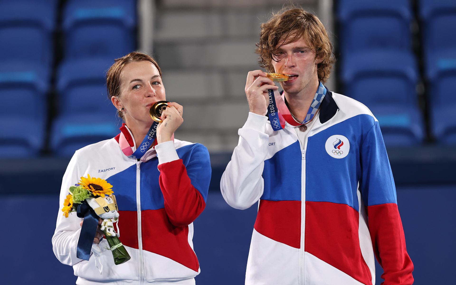 Фото:Анастасия Павлюченкова и Андрей Рублев (Getty Images)