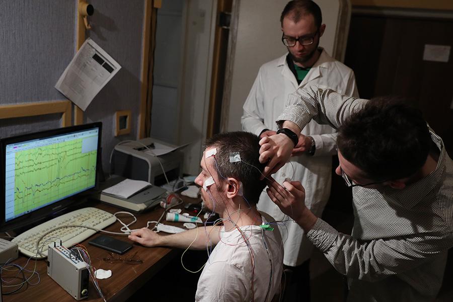 Эксперимент в лаборатории Института высшей нервной деятельности и нейрофизиологии РАН. Март 2017 года