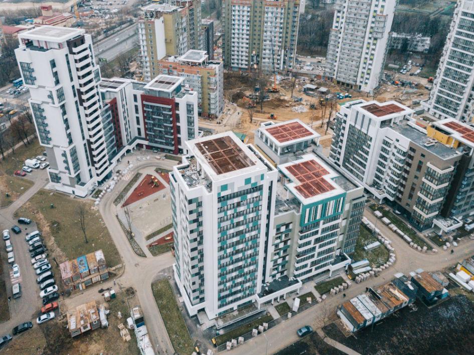 Квартал новостроек в районе Дмитровского шоссе, предназначенный для переселения жителей по программе реновации