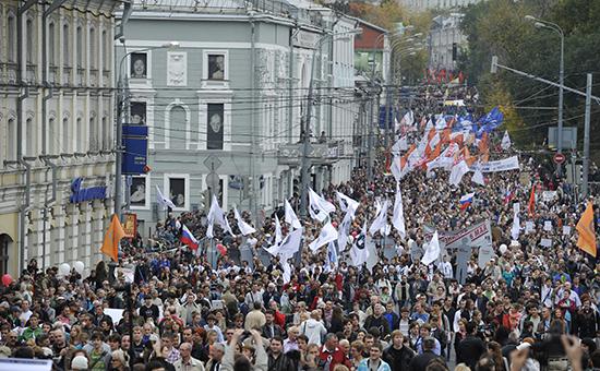 Участники «Марша миллионов» вМоскве. Фото 2012года
