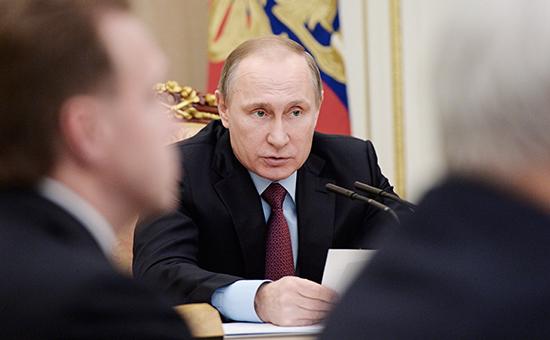 Президент России Владимир Путин на совещании по вопросам проведения приватизации в 2016 году в Кремле
