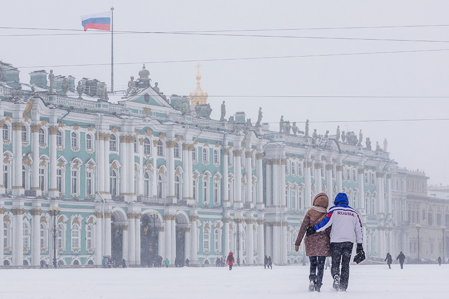 Здание Эрмитажа наДворцовой площади