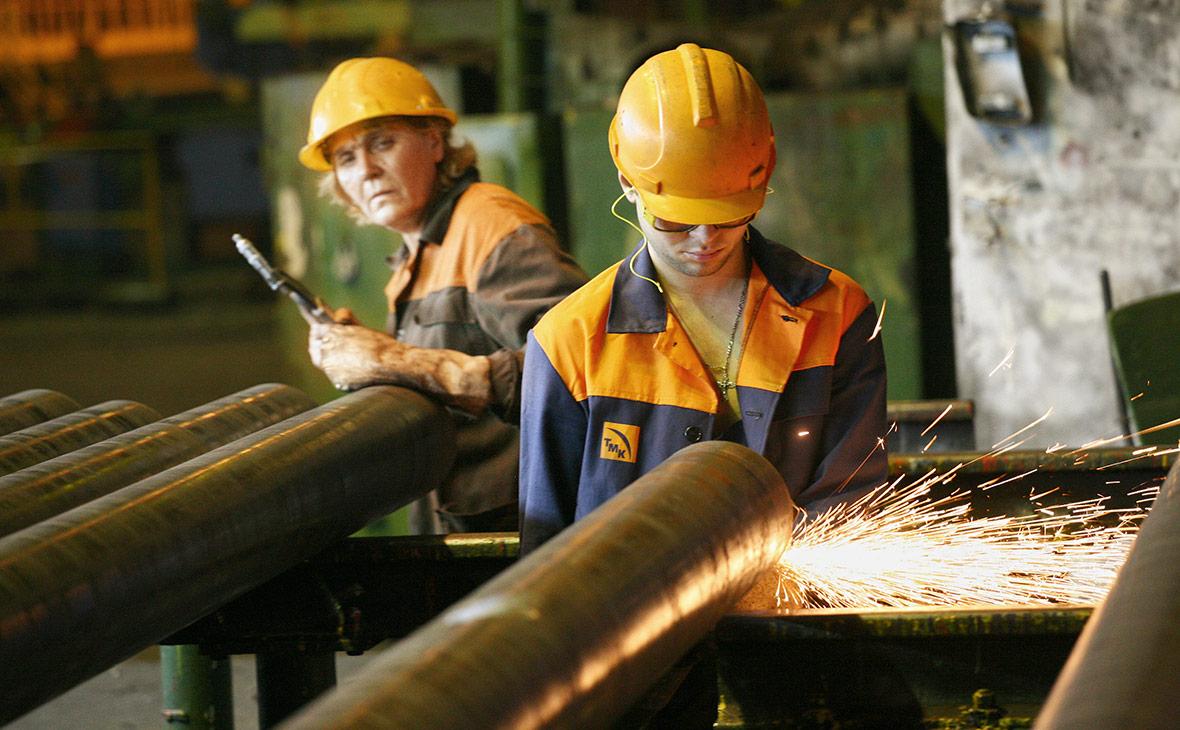 Работа Волжского трубного завода, входящего в ТМК