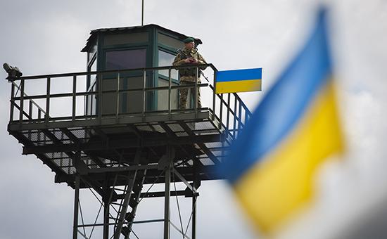 Дозорная вышка на Украино-Российской границе