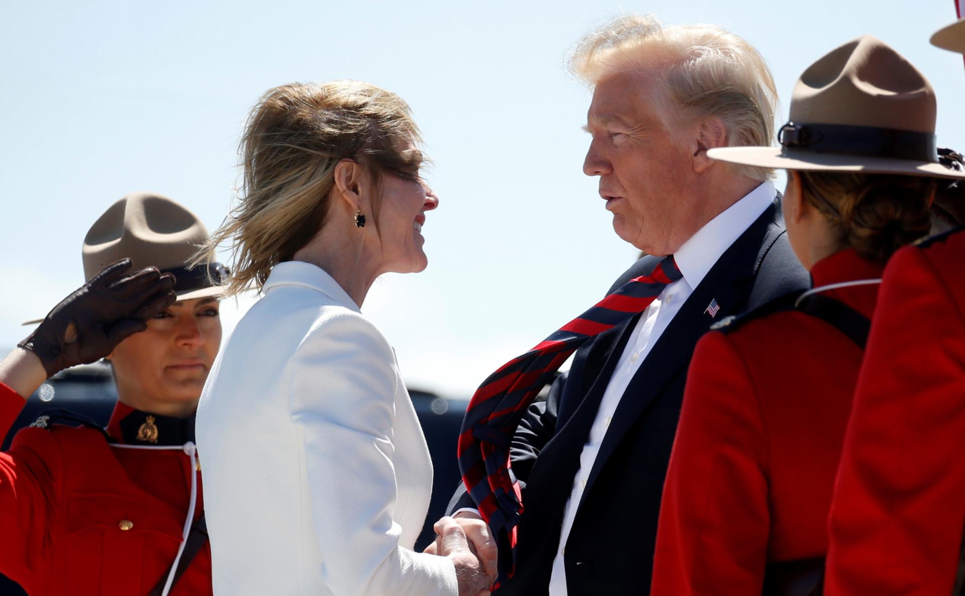Келли Крафт и Дональд Трамп