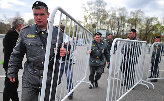Сотрудники полиции Москвы