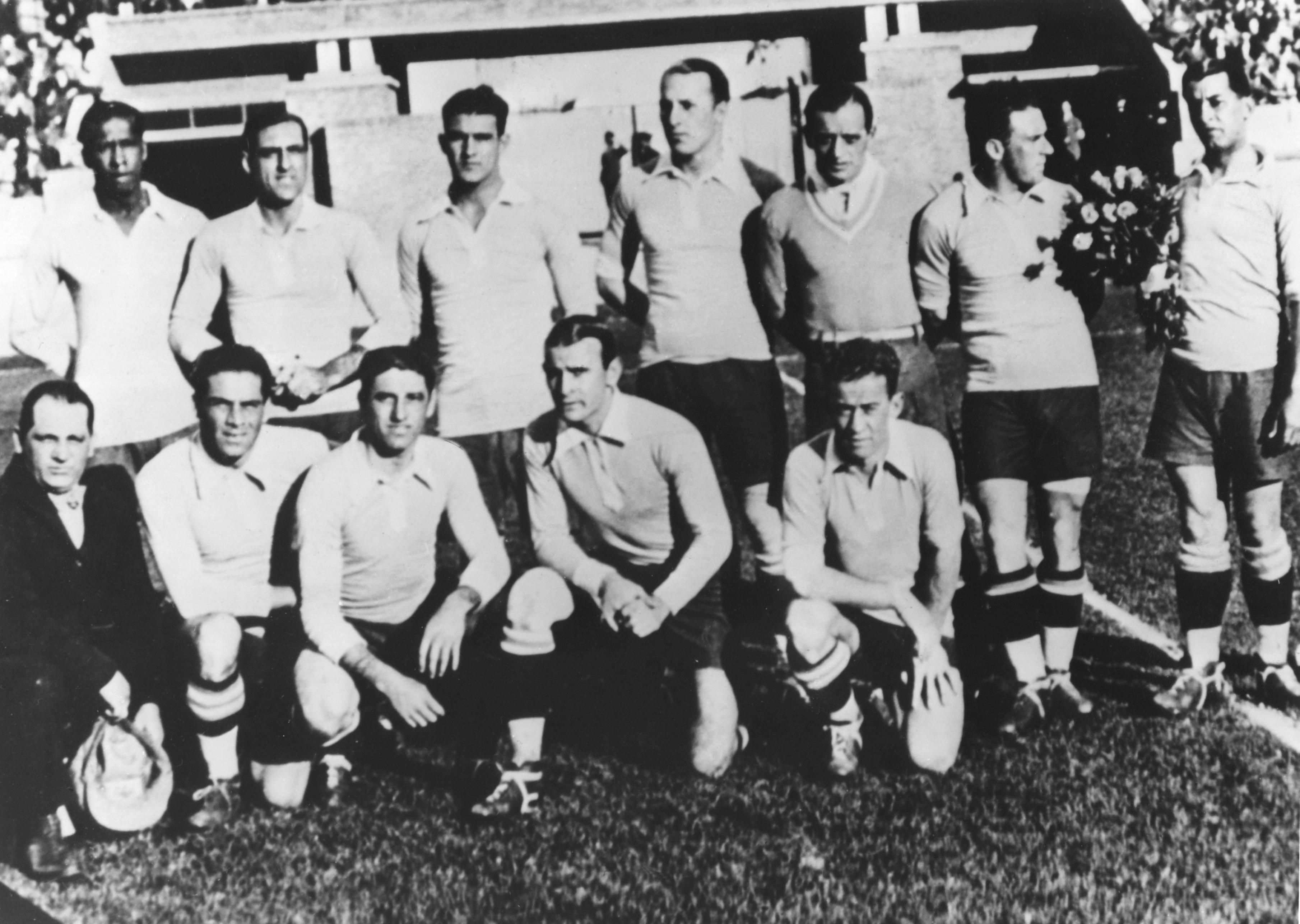 Сборная Уругвая перед победным для себя ЧМ-1930