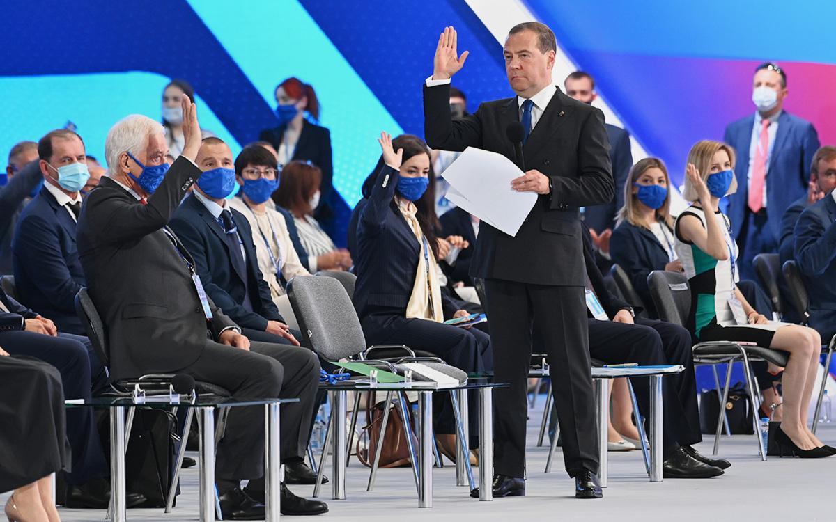 Дмитрий Медведев не вошел в первую пятерку списка «Единой России»