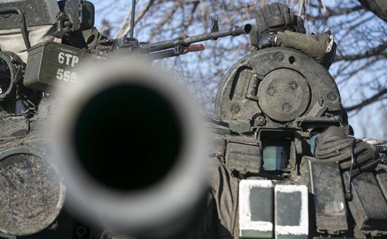 Военная техника в районе Углегорска, Донецкая область