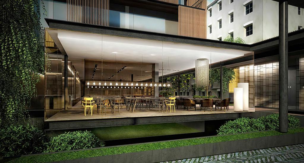 Визуализация ресторана отеля