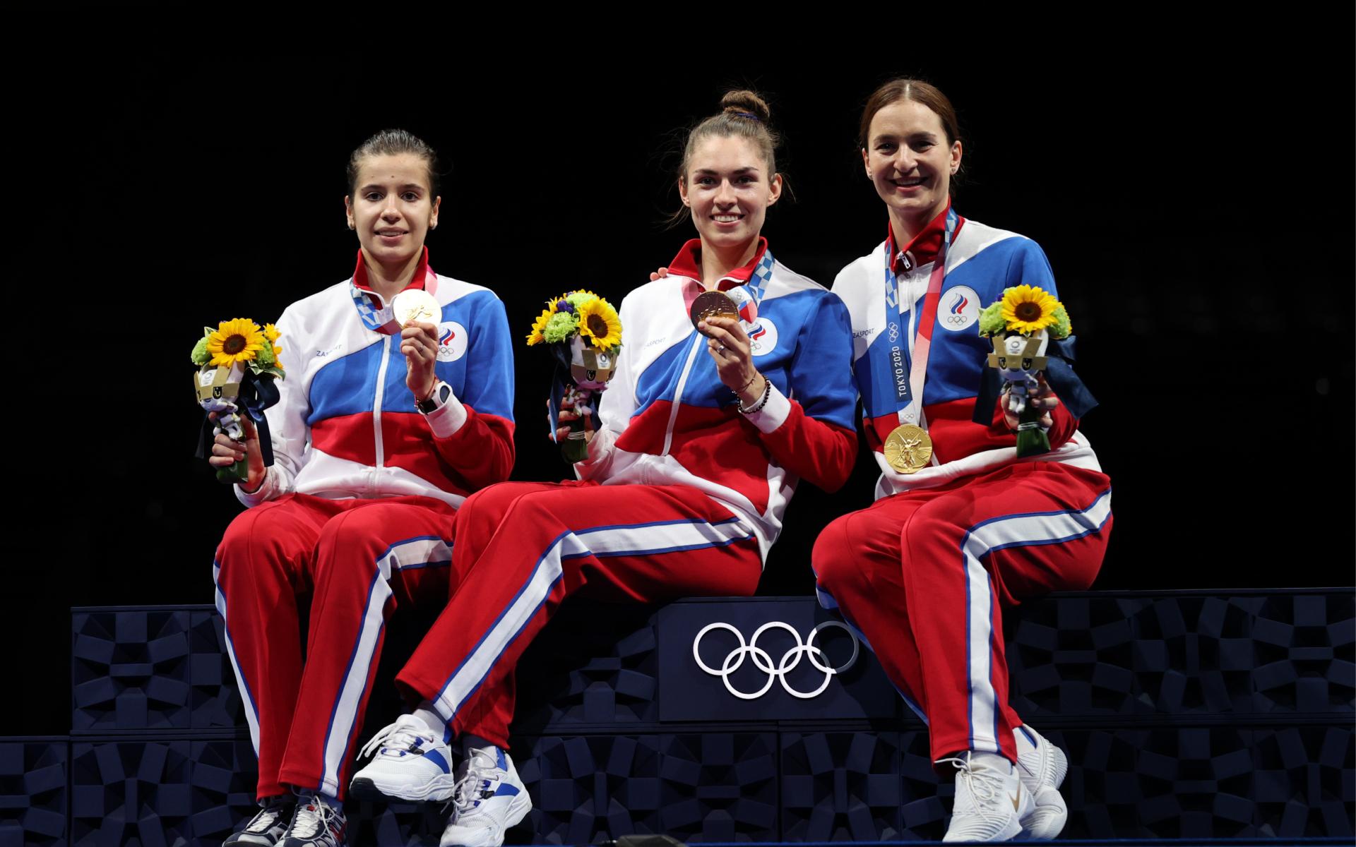 Фото: Софья Позднякова, Софья Великая и Ольга Никитина (Photo by Elsa/Getty Images)