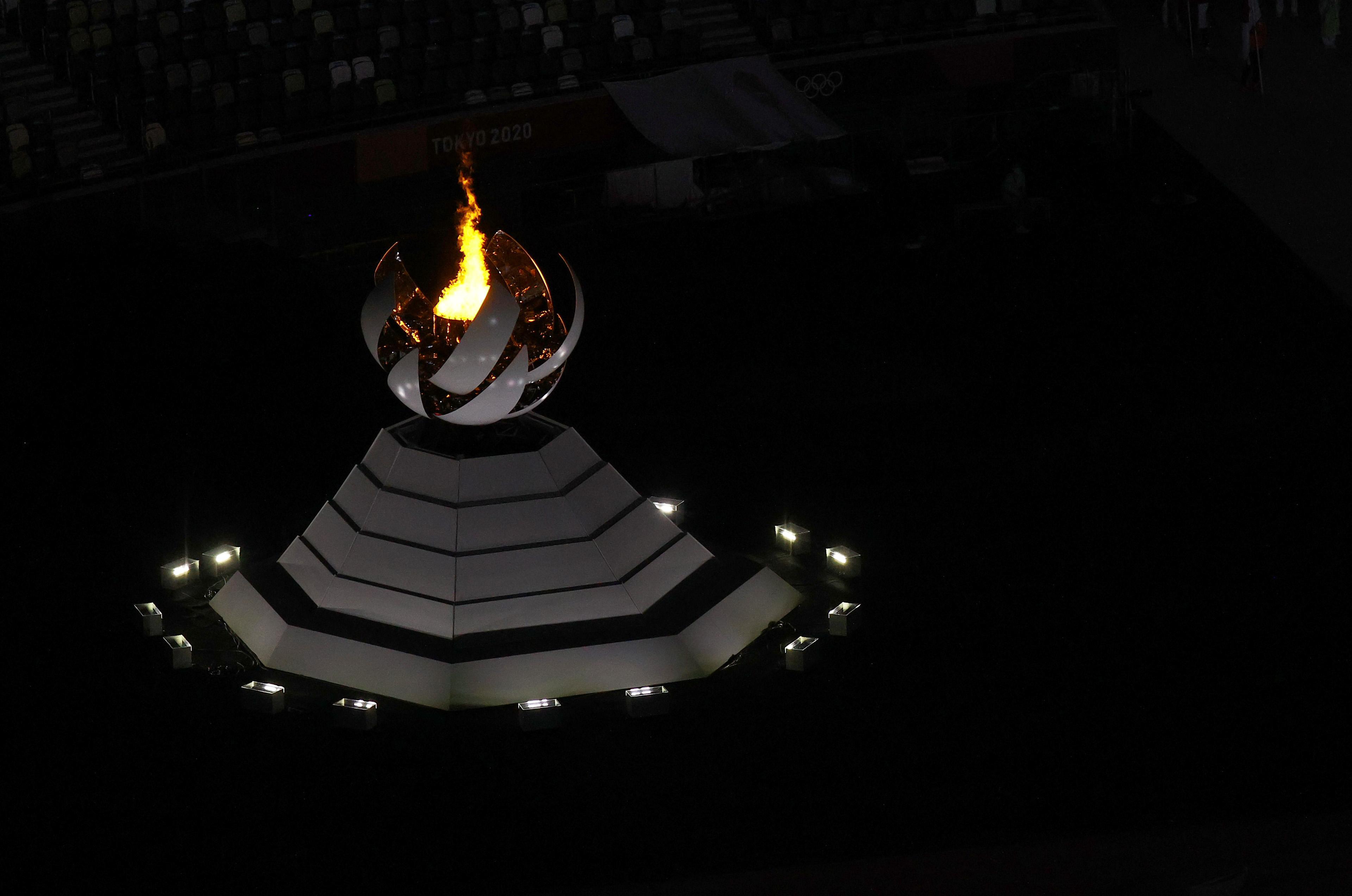Фото: Олимпийский огонь(Photo by Rob Carr/Getty Images)