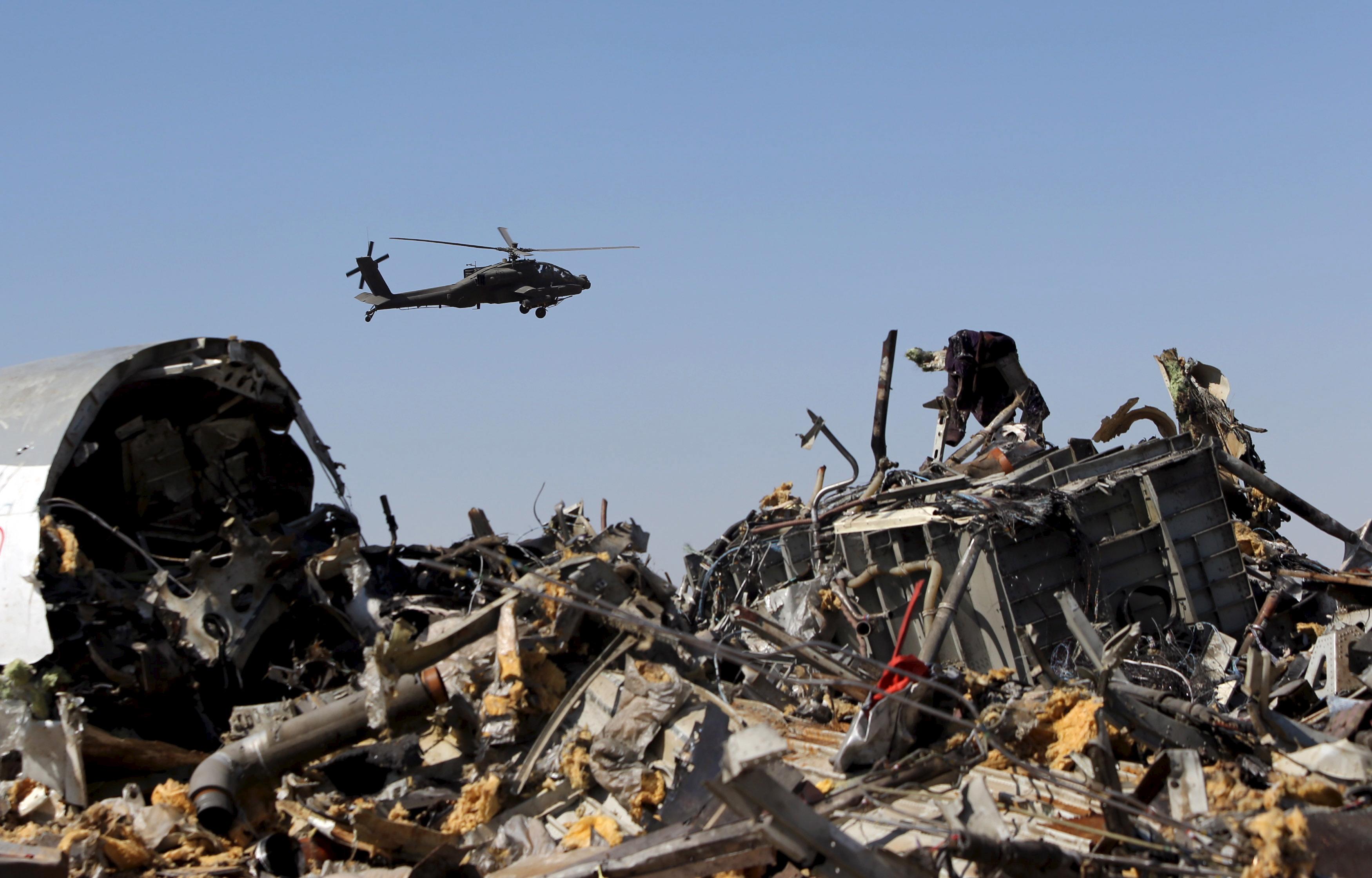 Обломки лайнера Airbus А321